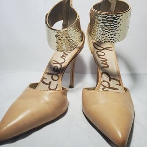 Sam Edelman Heel with Gold Plate Nude Color